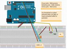 Abi joonis common anode tüüpi RGB LEDiga skeemi ehitamiseks