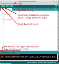Arduino IDE tähtsad nupud