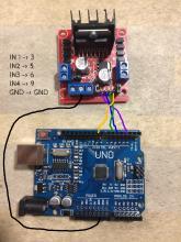 Mootori driveri ja Arduino omavaheline ühendus