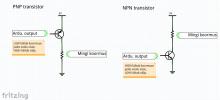 Transistori kasutamine koormuse sisse-välja lülitamiseks.